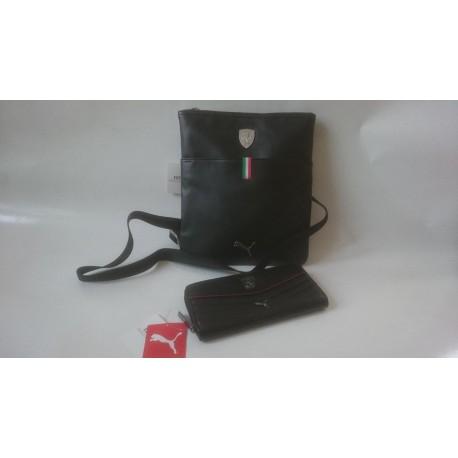Taška přes rameno + peněženka Puma Ferrari černá